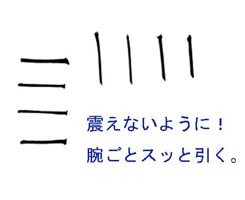 細い線の書き方